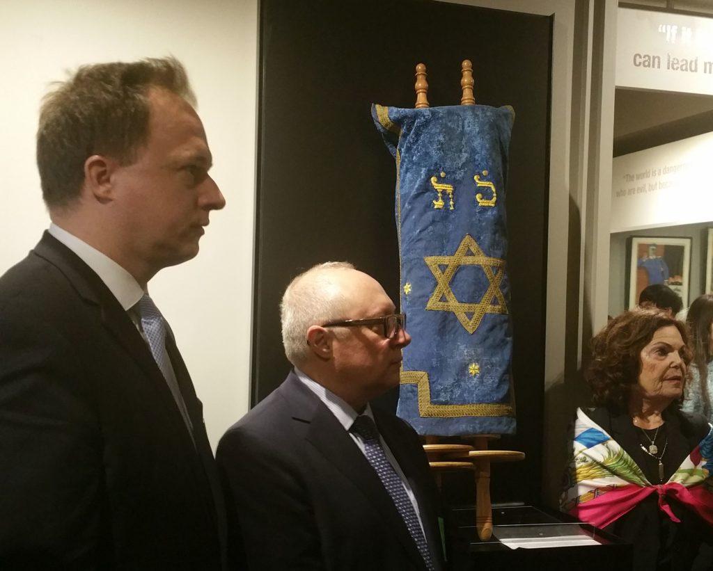 Dr. Kumin Ferenc, Nagykövet, Főkonzul, Igor L. Golubovskiy Főkonzul, Sibyl Silver The Jewish Heritage Foundation elnöke