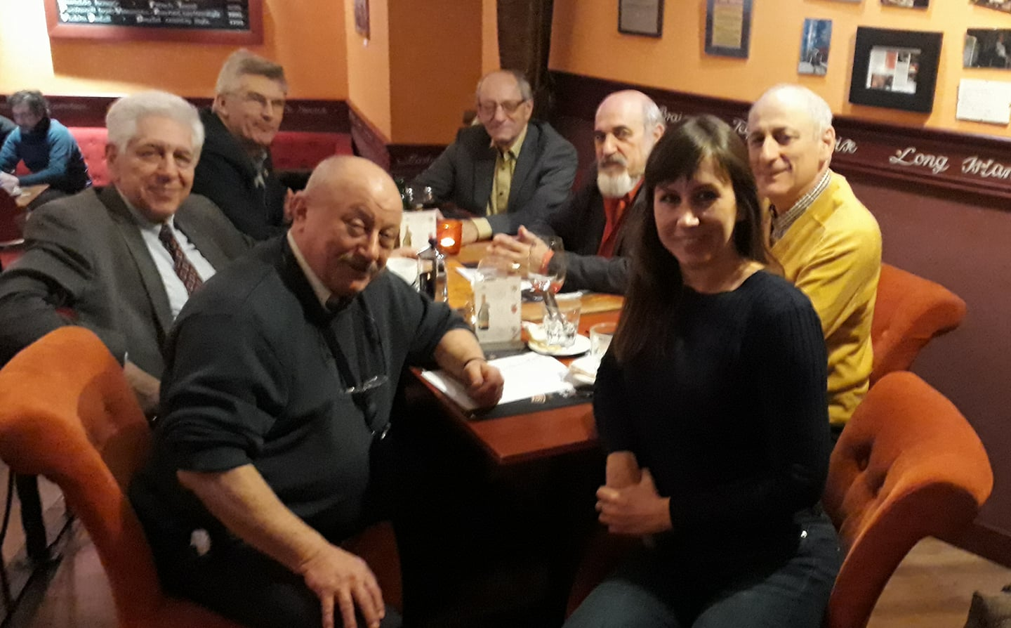 The meeting of the President of the Hungarian Public Relations Association, and the Member Emeritus' Body of the HuPRA. Zsófia Lakatos, President, György Tábori, Peter Sárosi, Csaba Galánfy, József Ferling, Tamas Barat