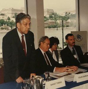 IPRA Sajtótájékoztató Budapest 1996 Colin Church és Tony Murdoch társaságában.