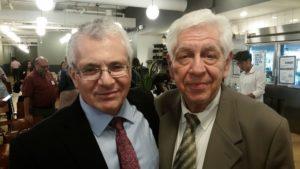 Az előadó Lucas Bernays Held és a tudósító Barát Tamás az előadás után