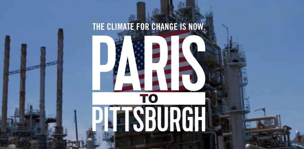 Március 26-án mutatták be New Yorkban, az egyik legismertebb felsőoktatási intézmény, a Hunter College Közpolitikai Intézetében, a Roosevelt House-ban az érdeklődőknek, a nemzetközi sajtó képviselőinek a Bloomberg Philanthropy, a National Geographic, illetve a Radical Media környezetvédelemről szóló From Paris to Pittsburgh című dokumentumfilmjét. Tudósítóként jelen voltam a filmbemutatón.